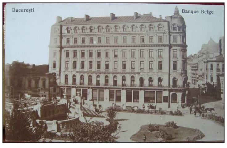 Bucuresti - Banque Belge actual Hotel Capitol linga Cercul Militar National - interbelica