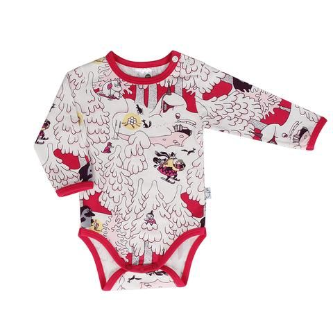 Moomin Midwinter bodysuit red by Martinex