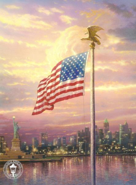 The Light of Freedom by Thomas Kinkade