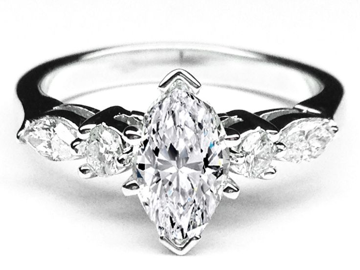 marquise diamond engagement ring marquise - Marquise Wedding Rings