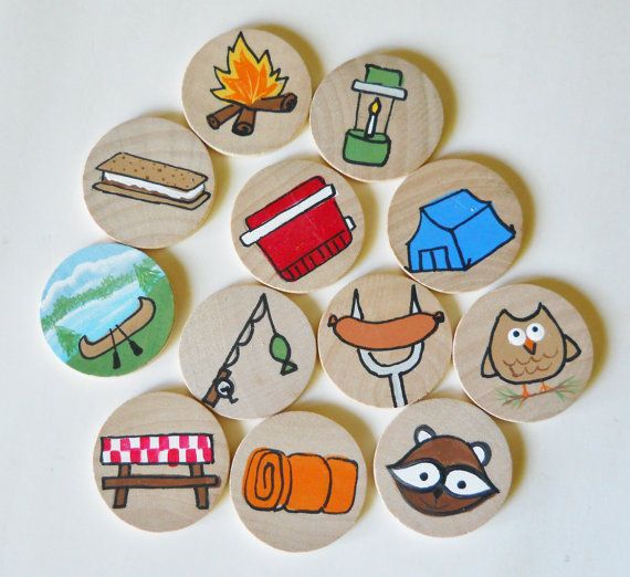 Story Discs Storytime Stories Camping Discs by 2HeartsDesire, $12.00 Handmade In The U.S.A.