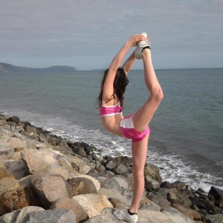 Cheerleading is a sport! :)  #cheer, scorpion, stunt, cheerleader, beach