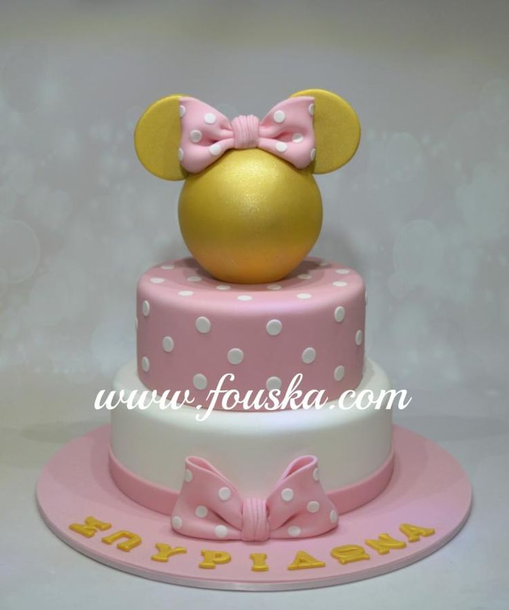 Gold Minnie Mouse - Cake by Georgia