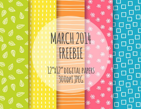 March paper pack freebie from Azmari Designs