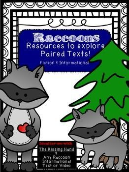A favorite story for back to school, use this resource as an extension for learning about raccoons and reading The Kissing hand! This is a great way to launch connecting informational and narrative texts early in the year! First Day Of School | Kissing Hand | Back to School | Paired Text