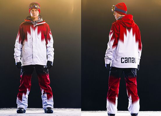 Cool retro vibe for Canadian Olympic snowboarding teams. Read my story at http://styledrama.com/2013/12/06/cool-retro-vibe-for-olympic-snowboarding-teams/
