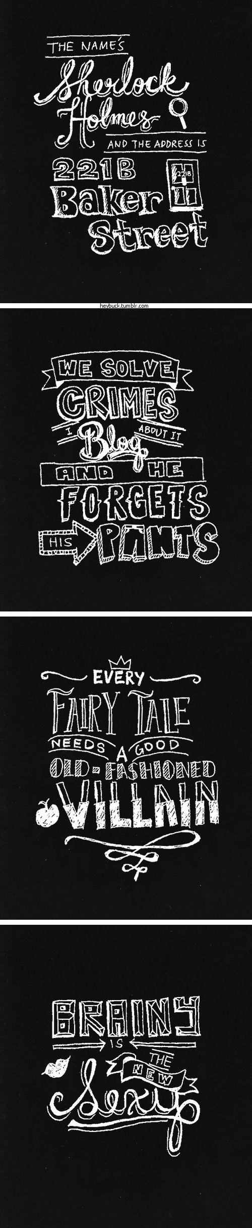 Sherlock quotes - typography