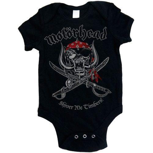 Body de bebé de #Motörhead Shiver Me Timbers #lemmy #rock #merchandising