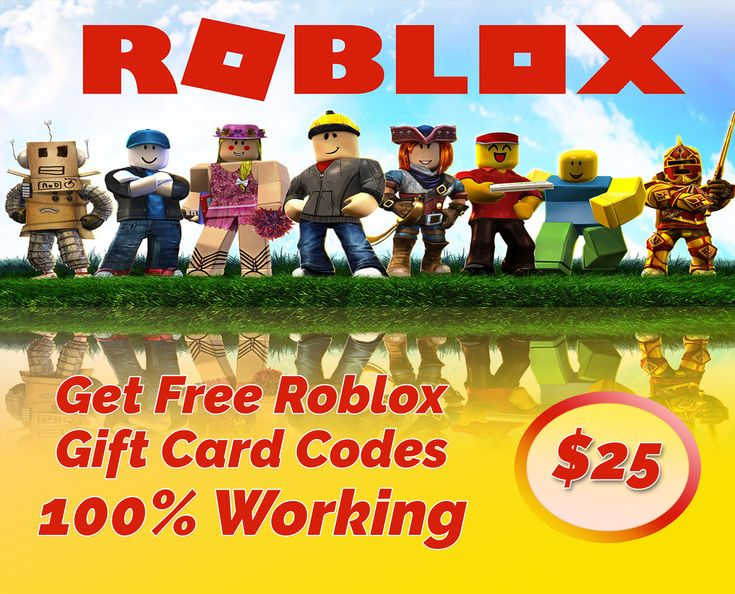 Get 25 roblox giftcard codes free