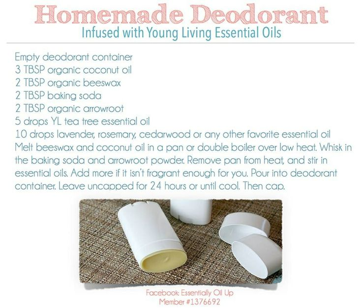 The best homemade deodorant recipe! It really works, even for those men in your life!