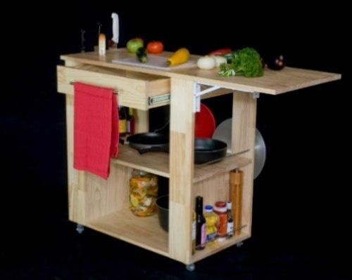 Las 25 mejores ideas sobre mesa auxiliar cocina en - Mesa auxiliar con ruedas ...