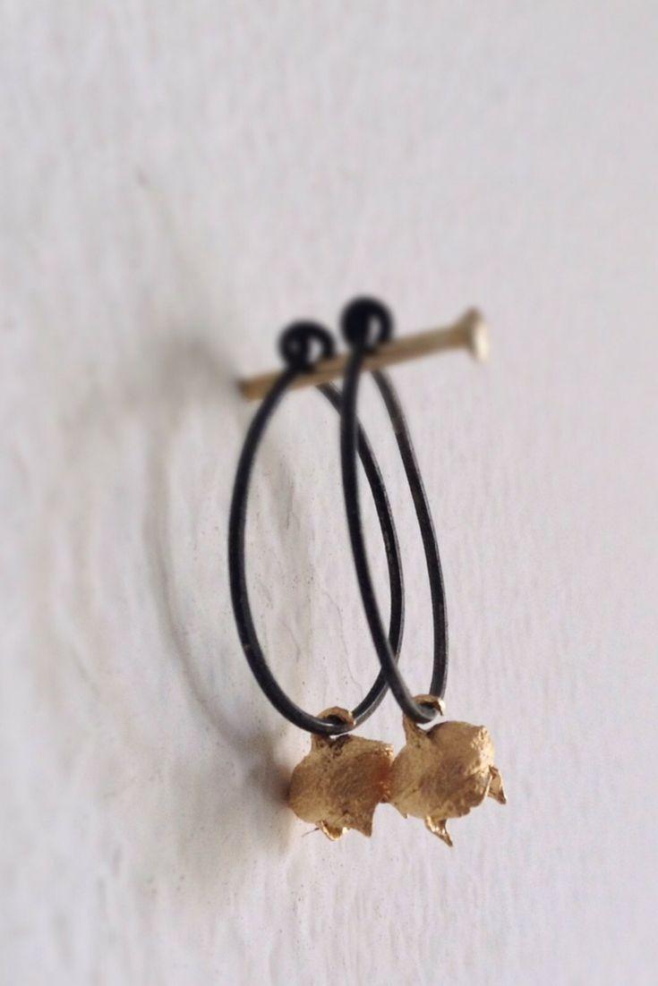 Botanical hoop earrings-Eucalyptus earrings-Seed jewelry-Nature inspired earrings