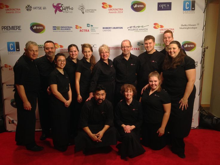 Our Amazing team at the ACTRA Gala www.pacificcoastcateringgroup.com