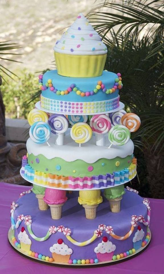 Ice Cream and Candy Cake and other great cake ideas!