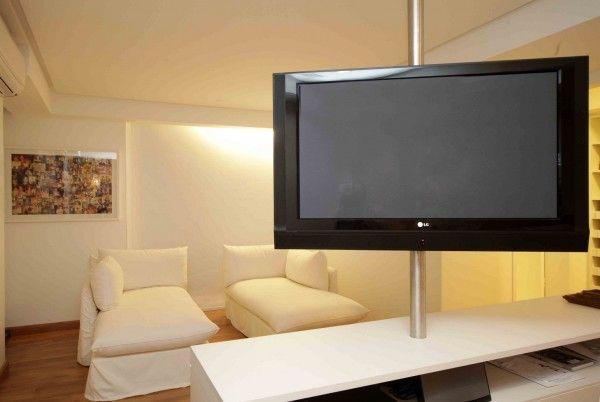 Tv Giratória 600x402 Fotos de Modelos de Tv Giratória para Dois Ambientes