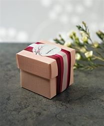 Seta Rose Blush Pink Wedding Favor Boxes