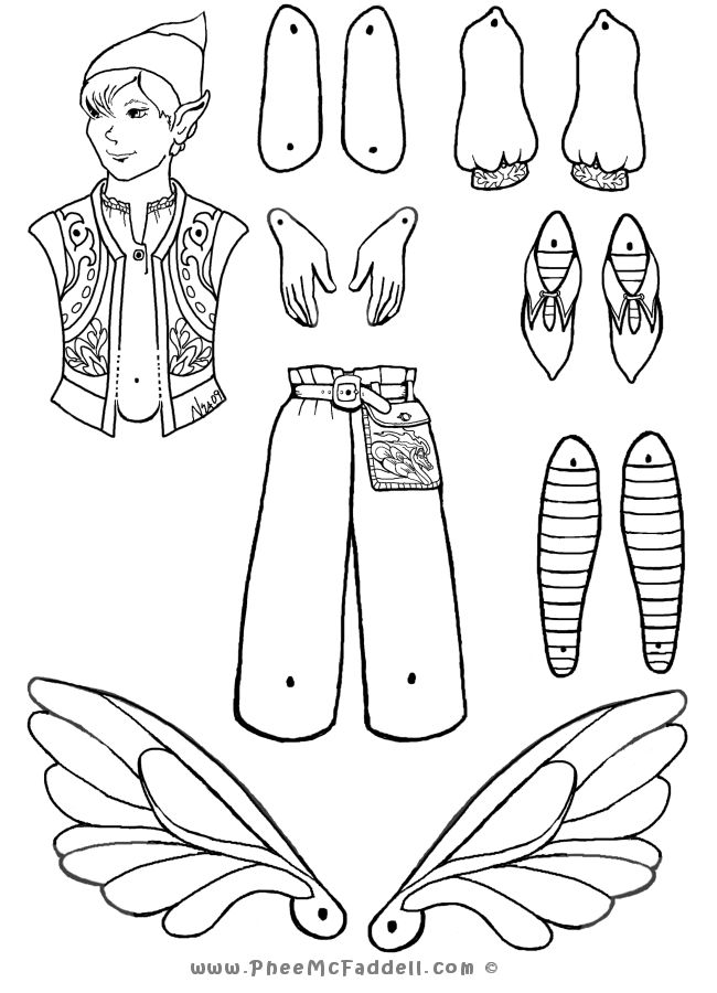 197 best images about jointed paper dolls on pinterest mermaids template and jumping jacks. Black Bedroom Furniture Sets. Home Design Ideas