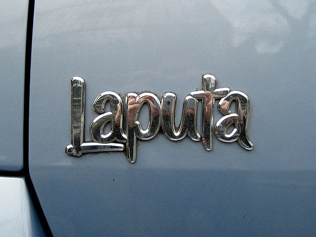A fun font, but what does this word mean? Noun1.Laputa - a land imagined by Jonathan Swift where impractical projects were pursued and practical projects neglected fictitious place, imaginary place, mythical place - a place that exists only in imagination; a place said to exist in fictional or religious writings