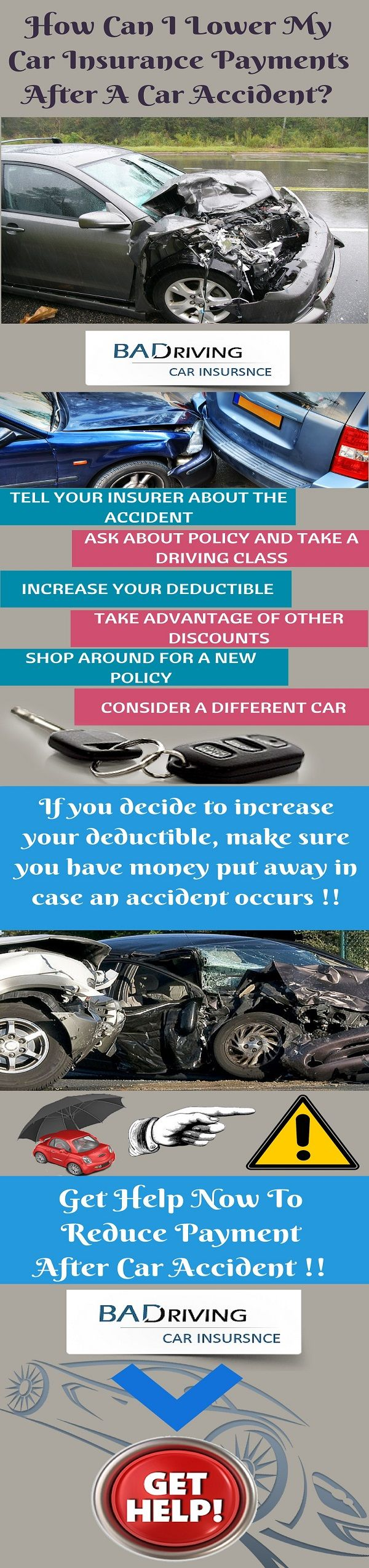 How to lower payment after car accident