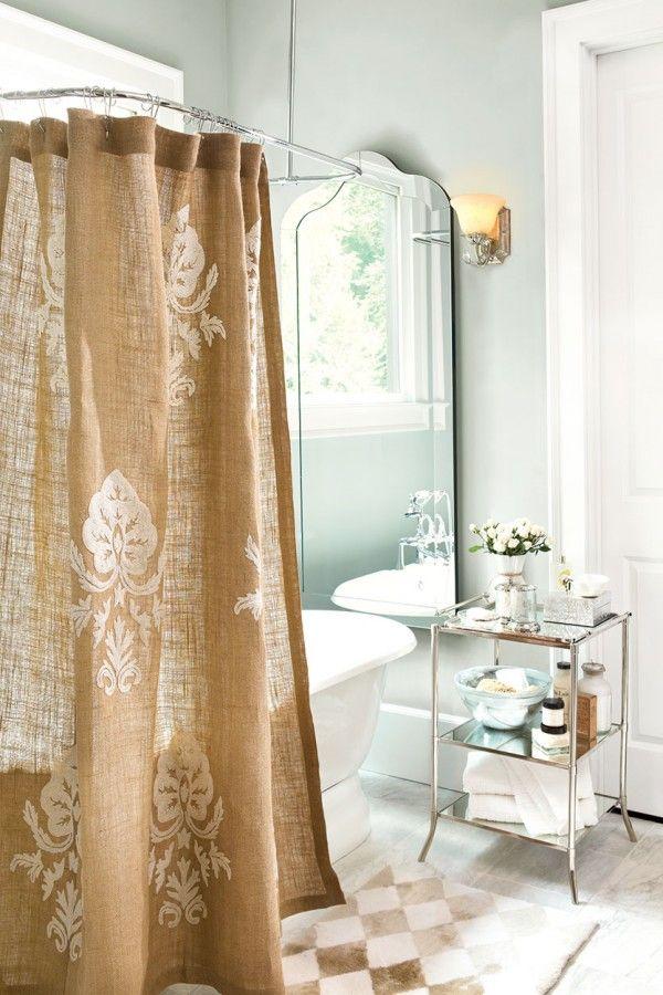 Burlap Home Decor Ideas Bathroom Shower Curtains Burlap Shower Curtains Bath Paint