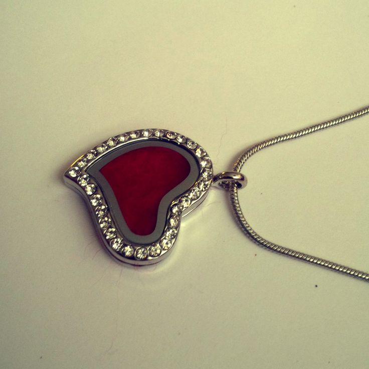 Locket pendant glassgolden woolred Heart by Katrinmania on Etsy