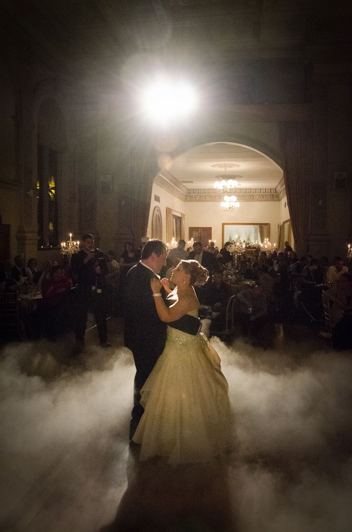 The bridal couple dance at Curzon Hall in Marsfield