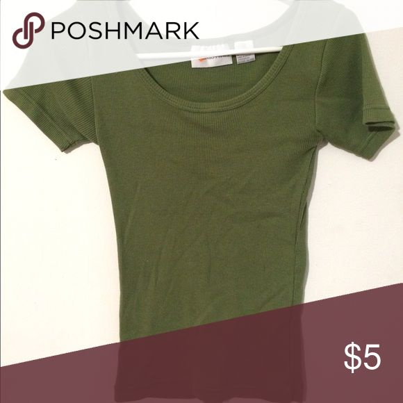 Olive green short sleeve top Short sleeve olive green CRISTINA top Cristina Tops
