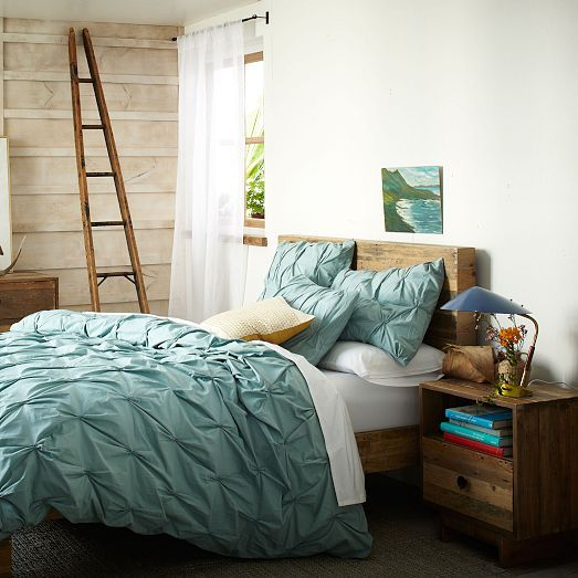Organic Cotton Pintuck Duvet Cover Shams Oceania West Elm