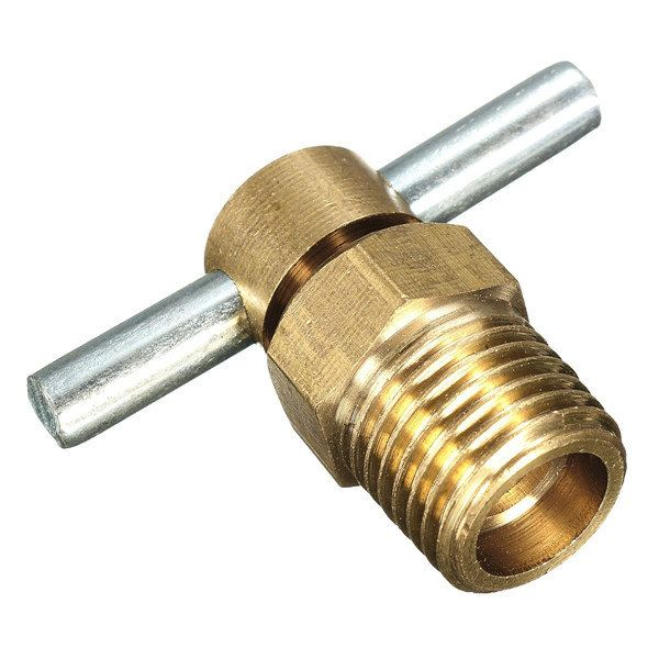 1/4 Inch NPT Brass Drain Valve for Air Compressor Tank Replacement Part