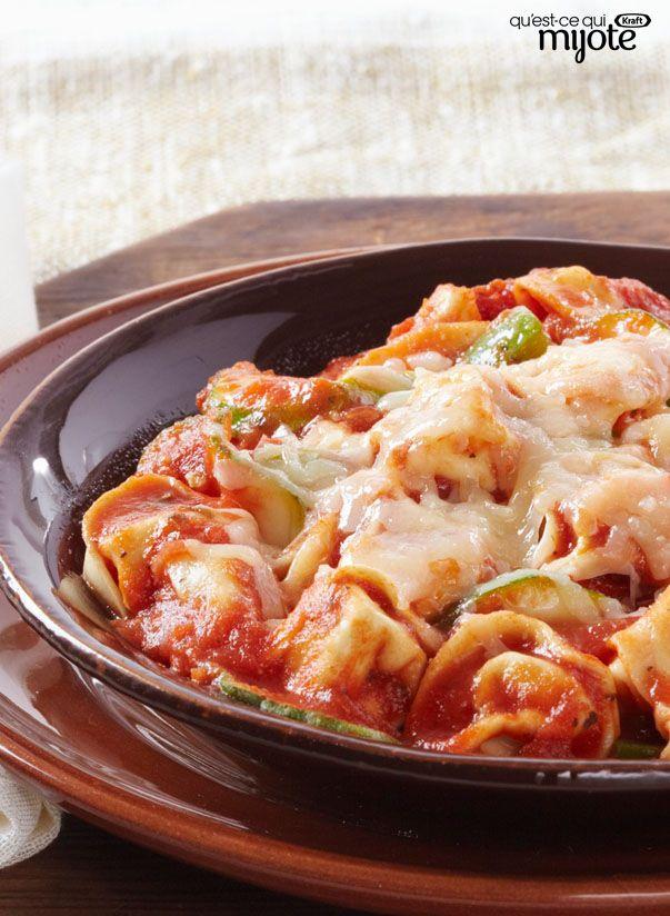 Pâtes à l'italienne rapides et faciles cuites au four #recette