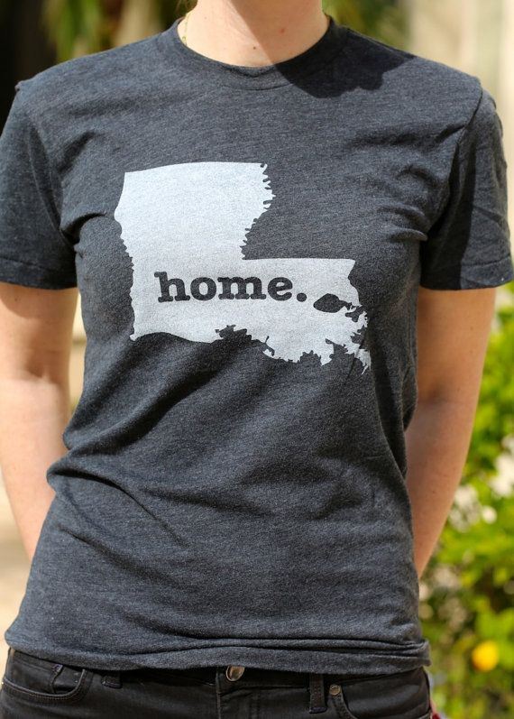 Louisiana+Home+TShirt+by+TheHomeT+on+Etsy,+$25.00  Born and raised. Roots in the ground. I love my home of Louisiana. #proudLouisianian