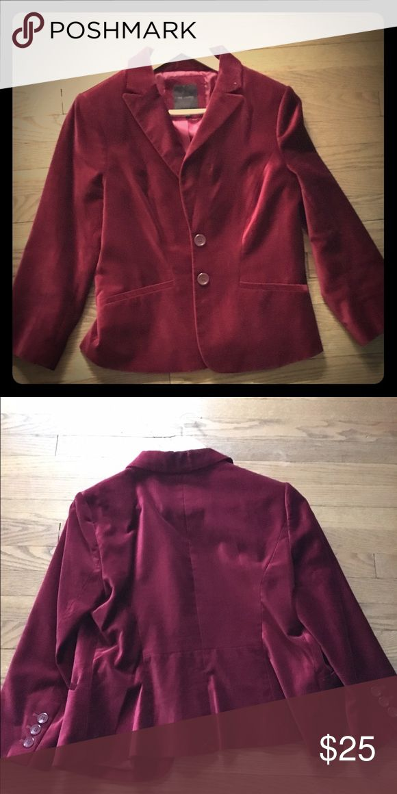 Velvet suit jacket Euc jacket from The Limited. Looks great with dark jeans and heels. No flaws. Rich maroon color. The Limited Jackets & Coats Blazers