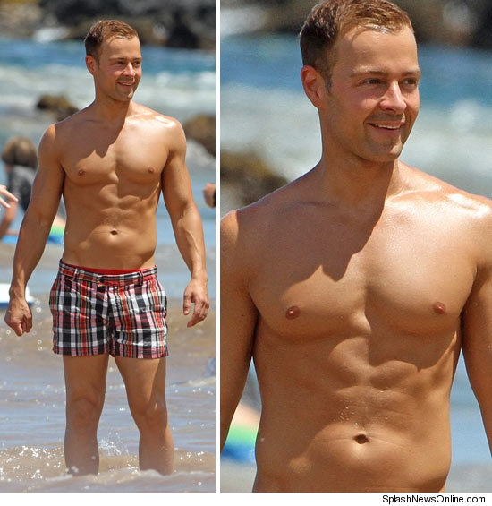 Joey Lawrence --- he has a nice body but those shorts have gots ta go