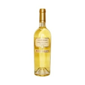 Santa Marie - A pale yellow wine with gold hints, it has an intense aroma of almonds with floral end notes.  Dry with good body, it is balanced and elegant in taste.  Can be served as an aperitif; best paired with strong-flavored or smoked fish. Serve at 10°C. Alc: 13% - Comp: 100% Garganega – Shelf life: 3 to 5 years.