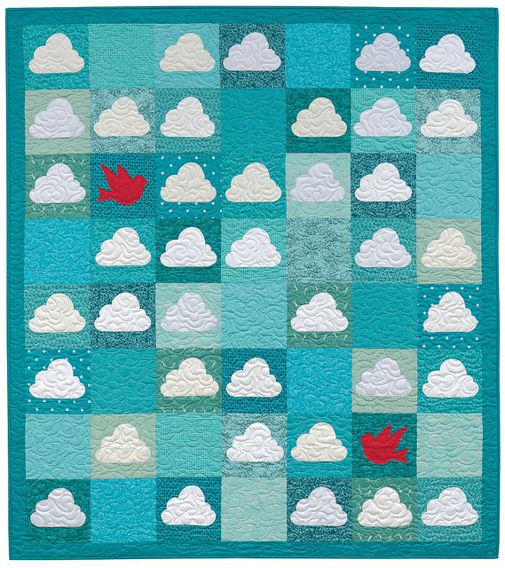 Blue Skies Ahead by Adrienne Smitke, from: Quilting with Fat Quarters  by The Staff at That Patchwork Place