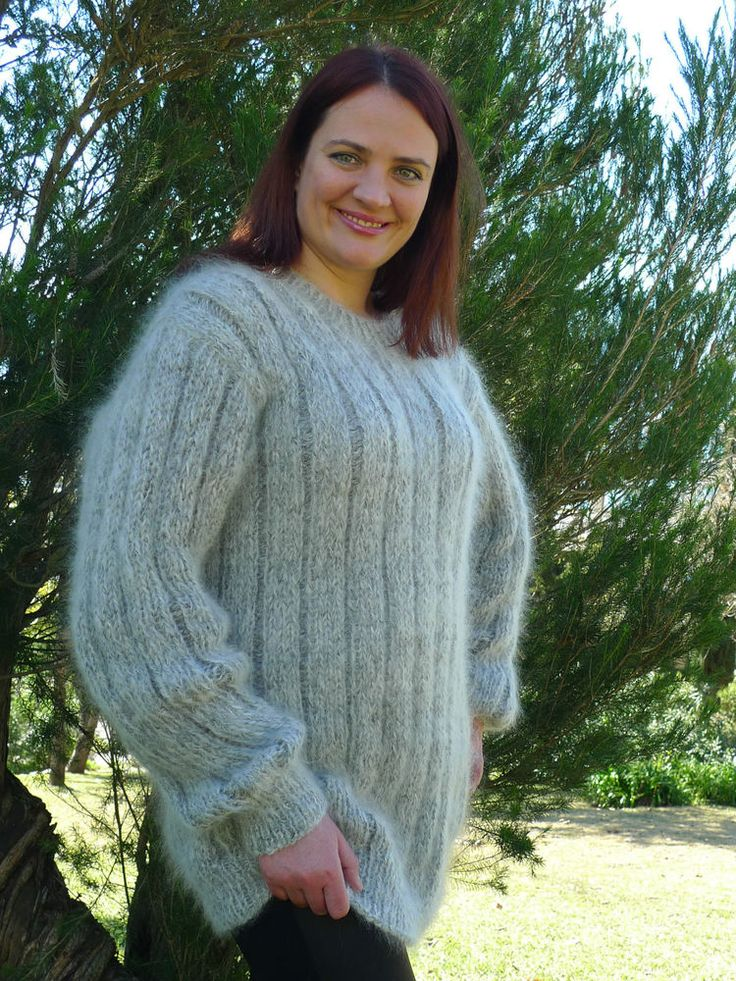 Hand Knitted Long hair Mohair Sweater by LanaKnittings 80% Mohair #HandmadebyLanaKnittings # ...