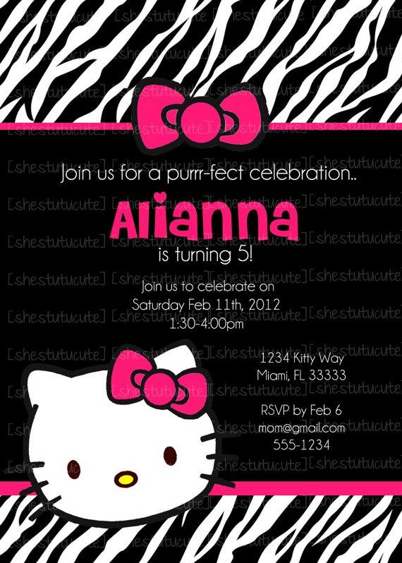 10 best Hello Kitty Zebra Party images on Pinterest Zebra party