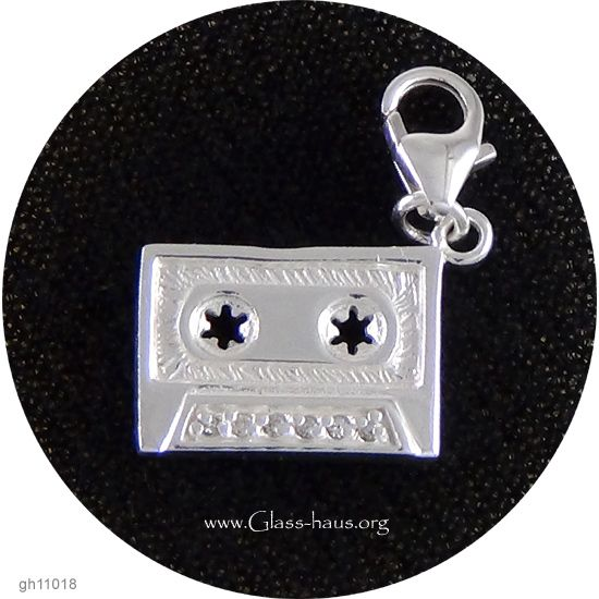 Sterling Silver Charm: Audio Cassette | Glasshaus