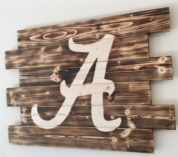 University of Alabama wood sign by MonogrammedMemmories on Etsy