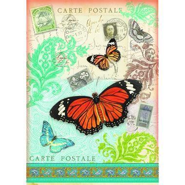 Papel de arroz A4 Carte postale Mariposas