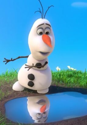 """Winter's a great time to stay in and cuddle, but put me in summer and I'll be a... HAPPY SNOWMAN"""