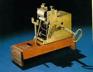 Telégrafo de morse patentado en 1849.