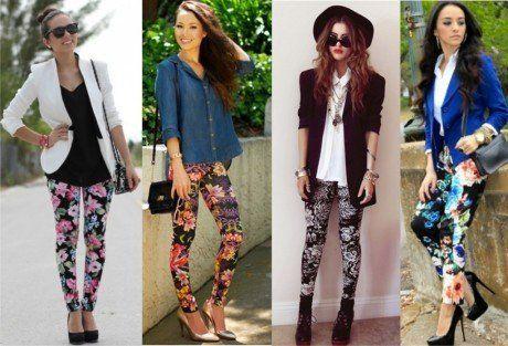 calça legging com estampa floral