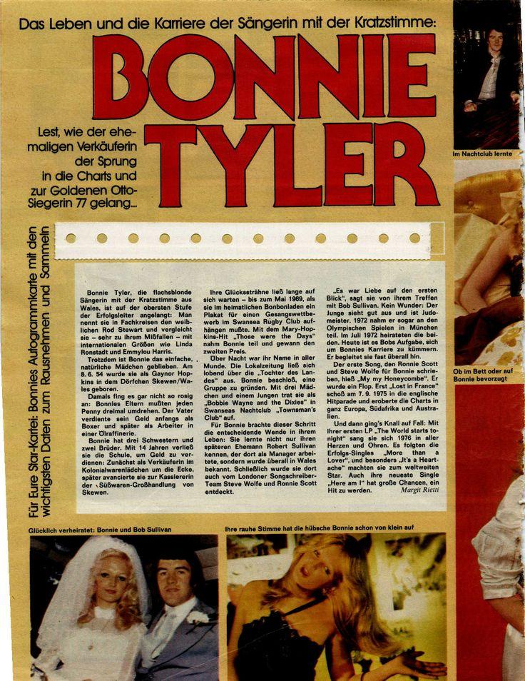 #bonnietyler #press #germany #music #young #gaynorhopkins www.the-queen-bonnie-tyler.com