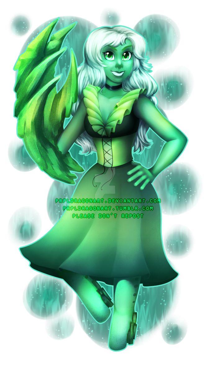 Steven Universe: Emerald (giveaway prize) by prpldragonart