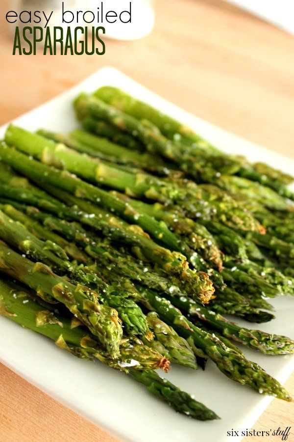 Easy Broiled Asparagus | Six Sisters' Stuff