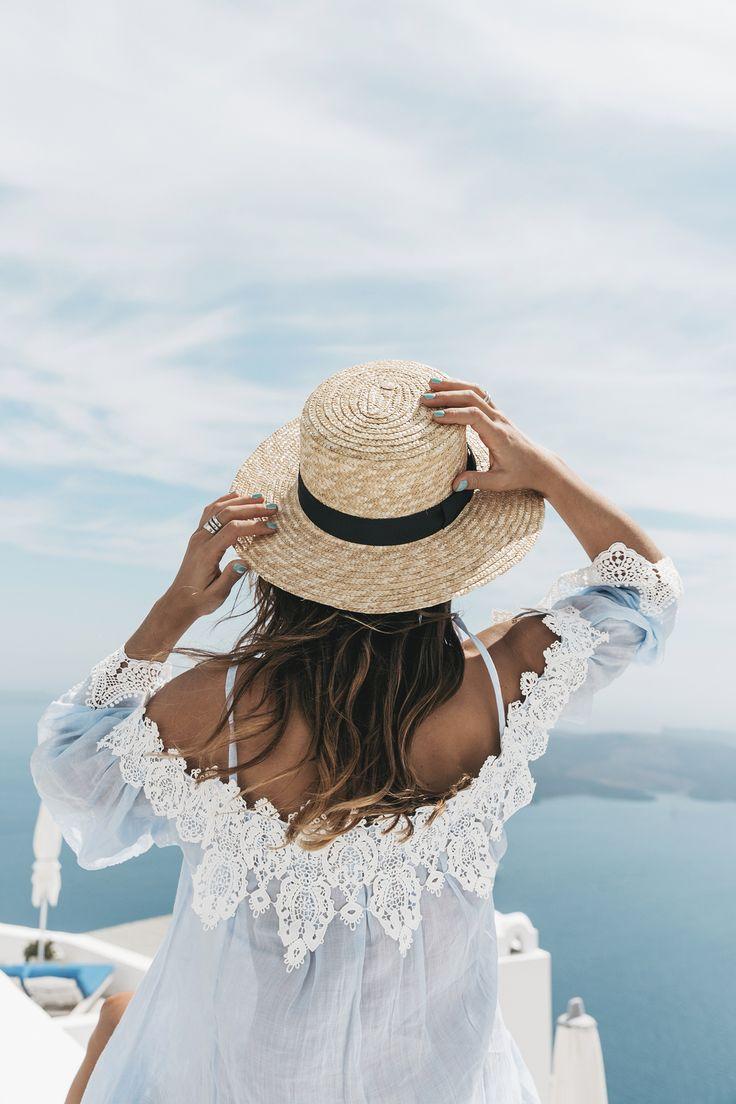 Blue_Dress-Soludos_Escapes-Soludos_Espadrilles-Canotier-Hat-Lack_Of_Color-Summer-Santorini-Collage_…