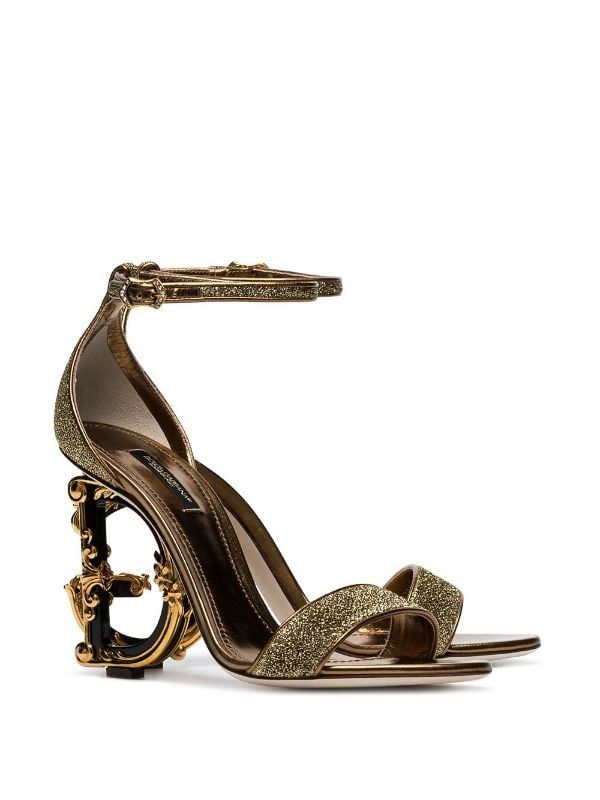 Dolce \u0026 Gabbana G Glitter Sandals