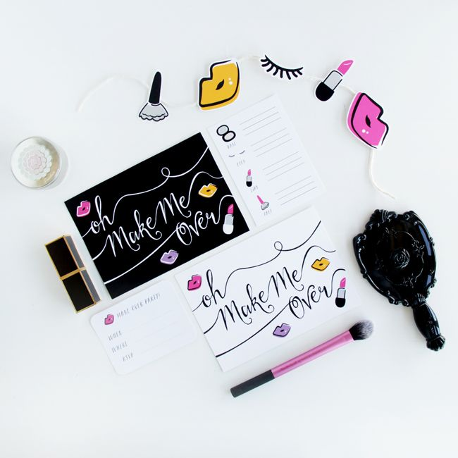 Make Over Party Kit free printable | DESIGN IS YAY!