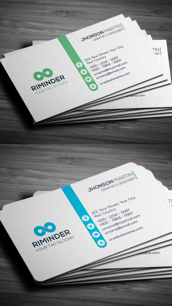 172 best business cards images on pinterest business card design print ready professional business card colourmoves